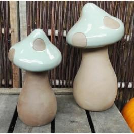 Paddehat, Støvgrøn keramik.