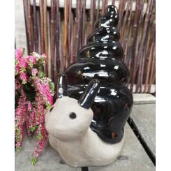 Snegl, blanksort keramik