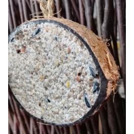Halv kokosnød m. fedt - 250 gr.