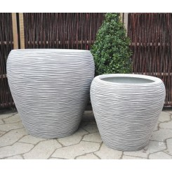 Virginia, Grey Wash polystone Krukke*