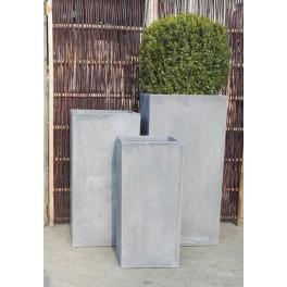 Høj grå firkantet fiberstone*