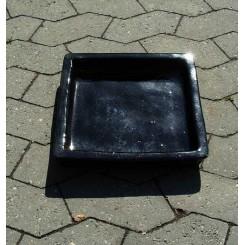 Blank sort firkantet underfad