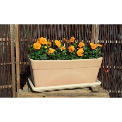 Terracotta Windowbox med underfad(*)